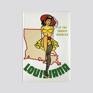 Louisiana Pinup Rectangle Magnet