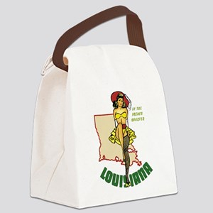 Louisiana Pinup Canvas Lunch Bag