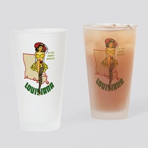 Louisiana Pinup Drinking Glass