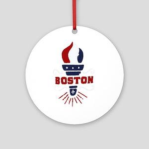 Boston Torch Ornament (Round)