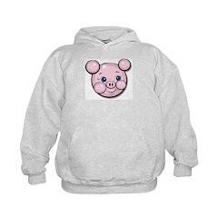 Pink Pig Cute Face Cartoon Hoodie