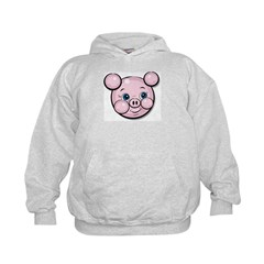 Pink Pig Cute Face Cartoon Hoodie
