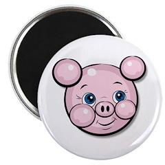 Pink Pig Cute Face Cartoon 2.25