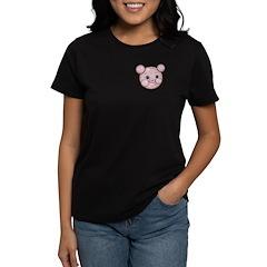 Pink Pig Cute Face Cartoon Women's Dark T-Shirt