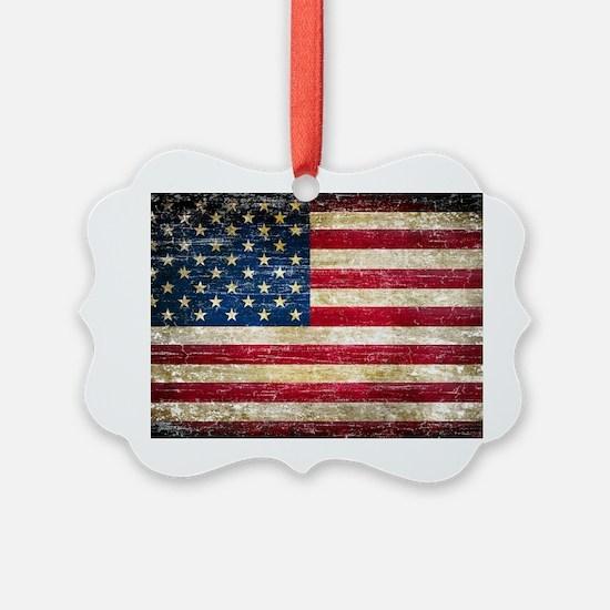 Faded American Flag Ornament