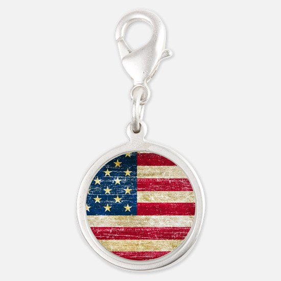 Faded American Flag Charms