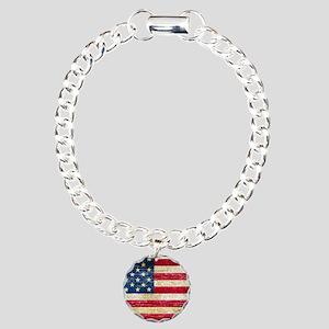 Faded American Flag Bracelet