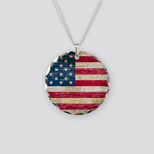 Faded American Flag Necklace