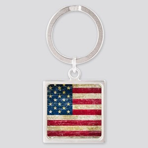Faded American Flag Keychains