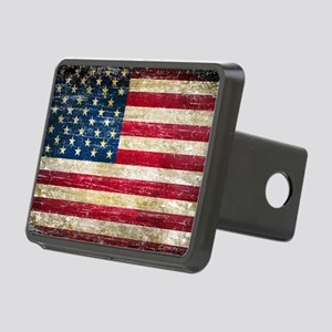 Faded American Flag Hitch Cover