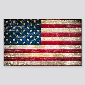 Faded American Flag Sticker