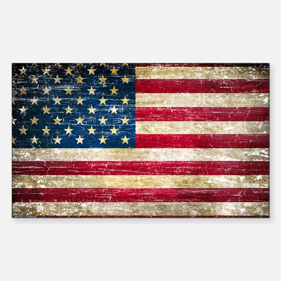 Faded American Flag Stickers