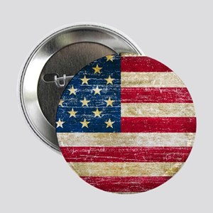 """Faded American Flag 2.25"""" Button"""