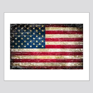 Faded American Flag Posters