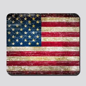Faded American Flag Mousepad
