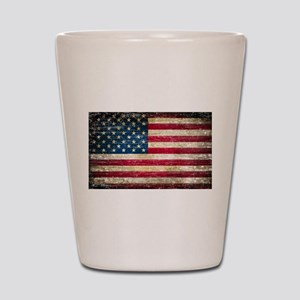 Faded American Flag Shot Glass