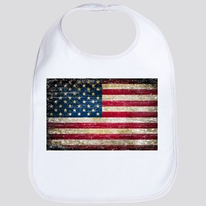 Faded American Flag Bib