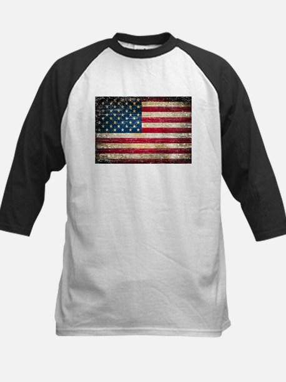 Faded American Flag Baseball Jersey