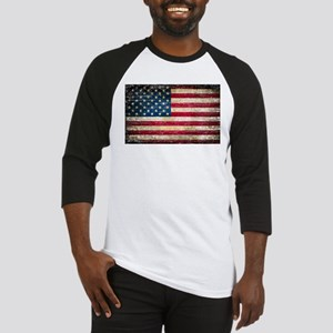 Faded American Flag Baseball Jersey