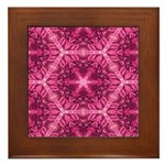 Pink Dahlias Framed Tile