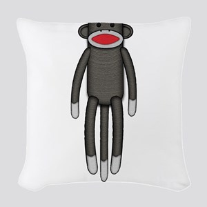 2-sockmonkey Woven Throw Pillow