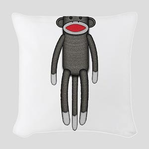 2-sockmonkey Woven Throw Pillow