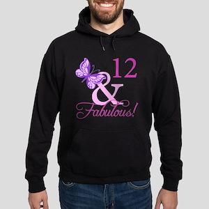 Fabulous 12th Birthday Hoodie (dark)