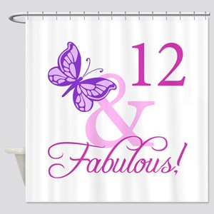 Fabulous 12th Birthday Shower Curtain