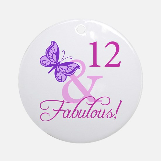 Fabulous 12th Birthday Ornament (Round)