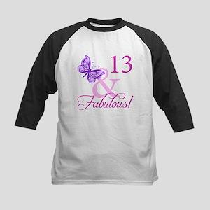 Fabulous 13th Birthday Kids Baseball Jersey