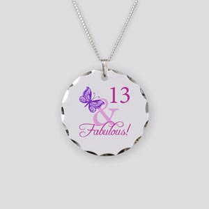 Fabulous 13th Birthday Necklace Circle Charm