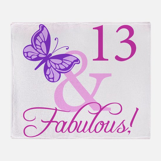 Fabulous 13th Birthday Throw Blanket