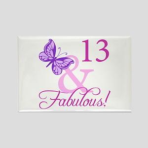 Fabulous 13th Birthday Rectangle Magnet