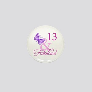 Fabulous 13th Birthday Mini Button
