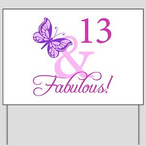 Fabulous 13th Birthday Yard Sign