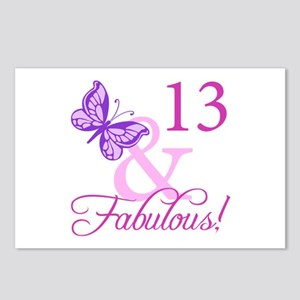 Fabulous 13th Birthday Postcards (Package of 8)