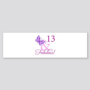 Fabulous 13th Birthday Sticker (Bumper)