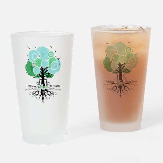 Let Green Energy Grow Drinking Glass
