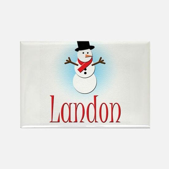 Snowman - Landon Rectangle Magnet