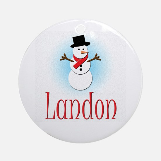Snowman - Landon Ornament (Round)