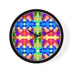 Rainbow Kaleidoscope Butterflies Wall Clock
