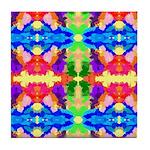 Rainbow Kaleidoscope Butterflies Tile Coaster
