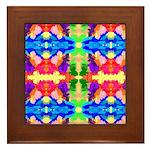 Rainbow Kaleidoscope Butterflies Framed Tile