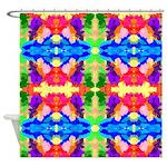 Rainbow Kaleidoscope Butterflies Shower Curtain
