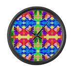 Rainbow Kaleidoscope Butterflies Large Wall Clock