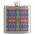 Rainbow Kaleidoscope Butterflies Flask