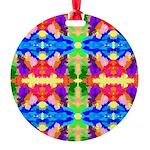 Rainbow Kaleidoscope Butterflies Ornament