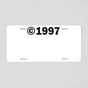COPYRIGHT 1997 Aluminum License Plate