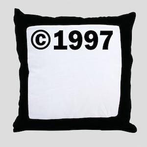 COPYRIGHT 1997 Throw Pillow
