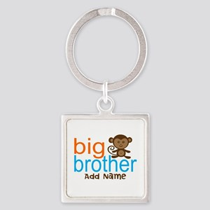 Personalized Monkey Big Brother Square Keychain